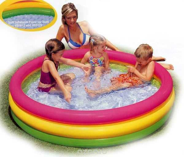 "Бассейн надувной ""Sunset Glow Pool"", 147 см х 33 см Intex (Латвия)"